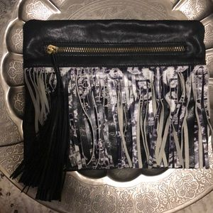 Cynthia Vincent Leather Clutch